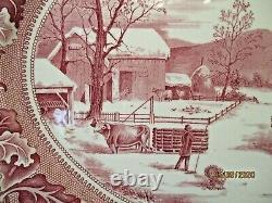 Johnson Bros Historic America Thanksgiving Turkey Platter 20 X 15-1/2