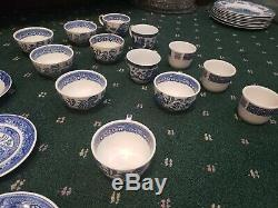Johnson Bros Japan Olde Buffalo China Burleigh Blue Willow 104 Misc Piece Set
