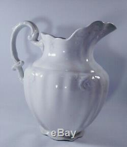 Johnson Bros Made In England Royal Ironstone China White Pitcher No Chips