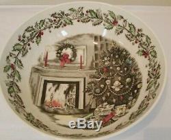 Johnson Bros Merry Christmas 12.25 Punch Salad Serving Bowl Rare Vintage