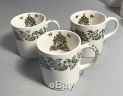 Johnson Bros Merry Christmas Punch Serving Bowl Cups Mugs Coasters Candy Dish