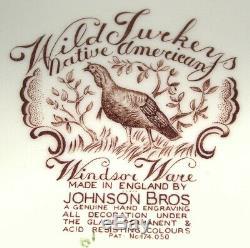 Johnson Bros Native American Wild Turkeys Windsor Ware 20 Platter