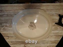 Johnson Bros Native American Wild Turkeys Windsor Ware Thanksgiving Platter