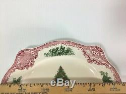 Johnson Bros Old Britain Castles Pink Christmas 11 7/8 Oval Serving Platter
