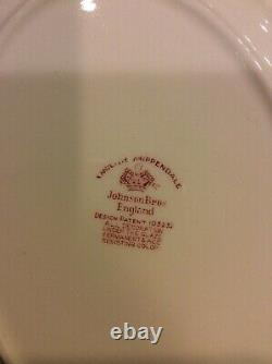 Johnson Bros Red English Chippendale Platter And 29 Assorted Pieces