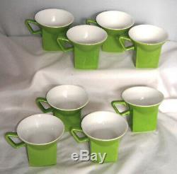 Johnson Bros Tea Set Apple Lime Green MID Century Modern England