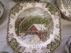 Johnson Bros. The Friendly Village 8 pc place setting + extras 79 pcs