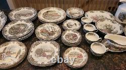 Johnson Bros The Friendly Village China set 55 peices England Dinnerware Set