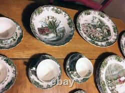 Johnson Bros. The Friendly Village Dinner Set 8 Piece plus spares and extras