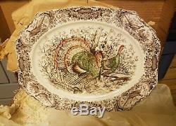 Johnson Bros Wild Turkey's Native American Windsor Ware 20 Platter Stunning