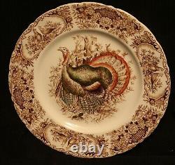 Johnson Bros Wild Turkeys Dinner Plates Set Of 6