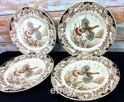 Johnson Bros Wild Turkeys Native American Dinner Plates 11 Set 4 Windsor Ware