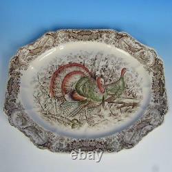 Johnson Bros Wild Turkeys Native American Turkey Platter 17 by 14¼