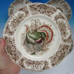 Johnson Bros Wild Turkeys Native American WIndsor Ware 8 Dinner Plates