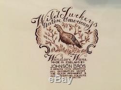 Johnson Bros Wild Turkeys Native American Windsor Ware 20 Platter Excellent