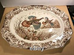 Johnson Bros Wild Turkeys Native American Windsor Ware 20 Platter #tms