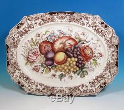 Johnson Bros Windsor Ware Harvest Fruit Retired 20+ Turkey Holiday Platter EXC