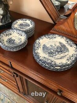 Johnson Bros coaching Scenes made in england dinnerware