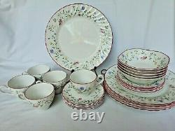 Johnson Brother SUMMER CHINTZ China 25 Pieces 5 Total Place Settings NICE