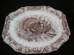 Johnson Brothers 17 platter WILD TURKEYS NATIVE AMERICAN Windsor Ware England