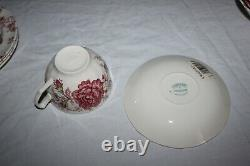 Johnson Brothers 20 Piece Dinner Service Rose Chintz Pink New Open Box China
