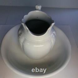 Johnson Brothers Antique Ironstone Large Pitcher and Wash Basin