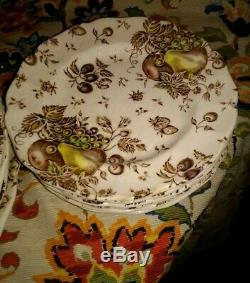 Johnson Brothers Autumn's Delight 10 Plates, Saucers, teacups. Set of 20