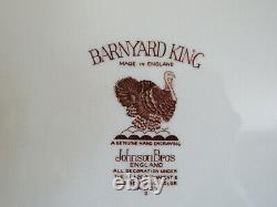 Johnson Brothers Barnyard King Thanksgiving Turkey Serving Platter 20-3/4