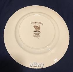 Johnson Brothers Barnyard King Turkey 12 Dinner Plate Set England Thanksgiving