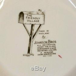 Johnson Brothers Bros Friendly Village Covered Bridge Large Salad Vegetable Bowl