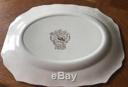 Johnson Brothers Bros, Native American Wild Turkeys Platter 20 Windsor Ware