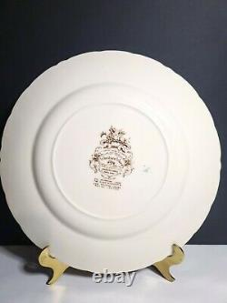 Johnson Brothers Brown Transferware Dinner Plate Harvest Fruit Windsor Ware Set