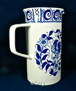 Johnson Brothers Chanticleer Blue Pattern 8 Tall, 5-cup Coffee Pot
