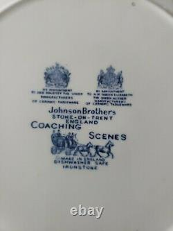 Johnson Brothers Coaching Scenes Blue Lot of 17