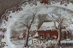 Johnson Brothers Country Life Large Holiday Serving Platter 20 RARE