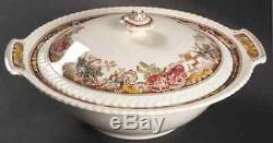 Johnson Brothers DEVONSHIRE-BROWN-MULTICOLOR Round Covered Vegetable Bowl 275356