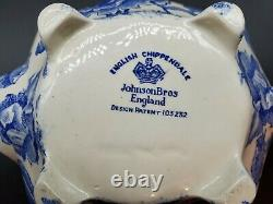 Johnson Brothers ENGLISH CHIPPENDALE BLUE Teapot
