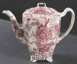 Johnson Brothers ENGLISH CHIPPENDALE-RED-PINK 6 Cup Coffee Pot 6759834