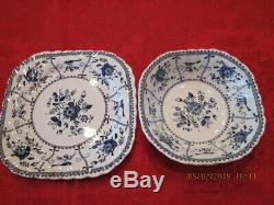 Johnson Brothers England Blue Indies china -service for 8- 46 pieces dinnerware