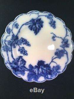 Johnson Brothers England Flow Blue WARWICK 9 Dinner Plate Embossed Scallop Rim
