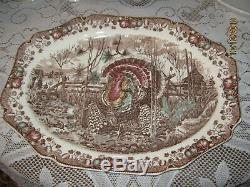 Johnson Brothers England His Majesty 20x15.5 Turkey Serving Holiday Platter