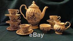 Johnson Brothers England Pattern TULIP TIME 15 Piece Coffee Tea Service