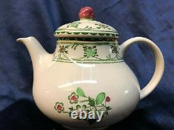 Johnson Brothers England Provence Teapot & LID 36 Oz Green Flowers