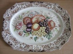 Johnson Brothers England WINDSOR WARE large HARVEST porcelain platter 20x15.75
