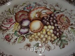 Johnson Brothers England Windsor Ware HARVEST Fruit Turkey PlatterLarge 20Exc