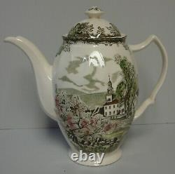 Johnson Brothers FRIENDLY VILLAGE Coffee Pot MADE IN ENGLAND VINTAGE