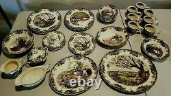 Johnson Brothers FRIENDLY VILLAGE Multi-Color MADE in ENGLAND VINTAGE 43 Pieces