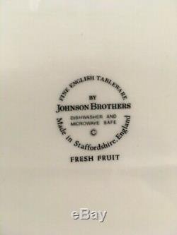 Johnson Brothers Fresh Fruit dinnerware set, china, octagonal