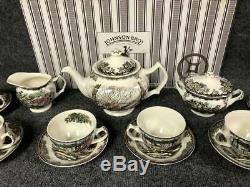 Johnson Brothers Friendly Village 15 Pc Tea Set Teapot/Cream Sugar/Cups Saucers