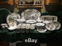 Johnson Brothers Friendly Village 93 Piece, 12 / 7pc Place Setting With Extra PCs